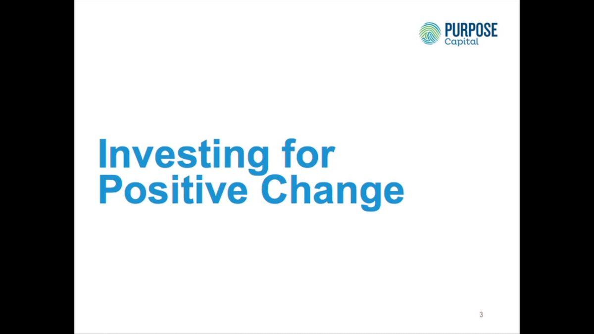 Genus Fossil Free Seminar: Investing for Positive Change – Christie Stephenson, Purpose Capital