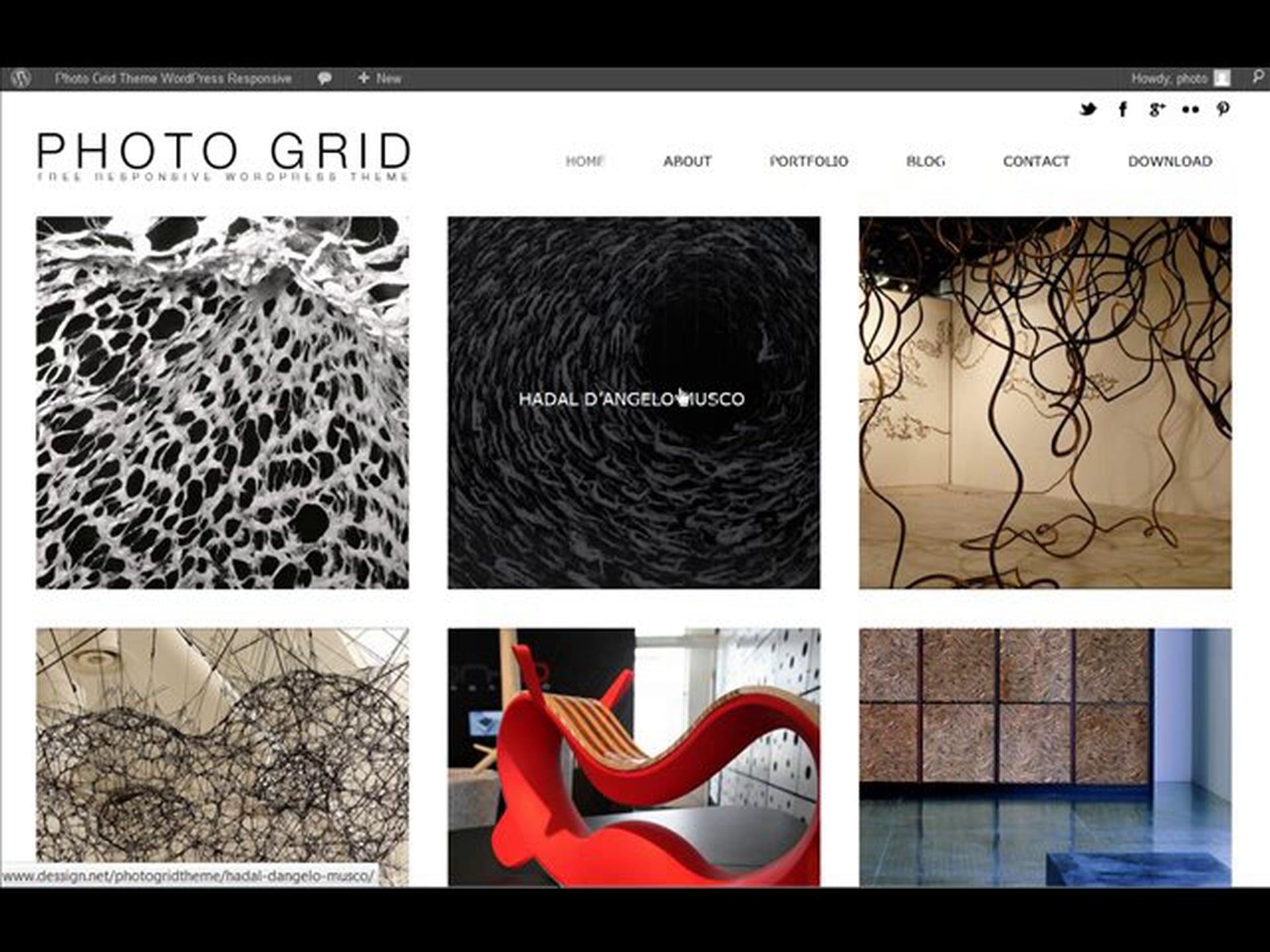 PhotoGrid Responsive WordPress Theme