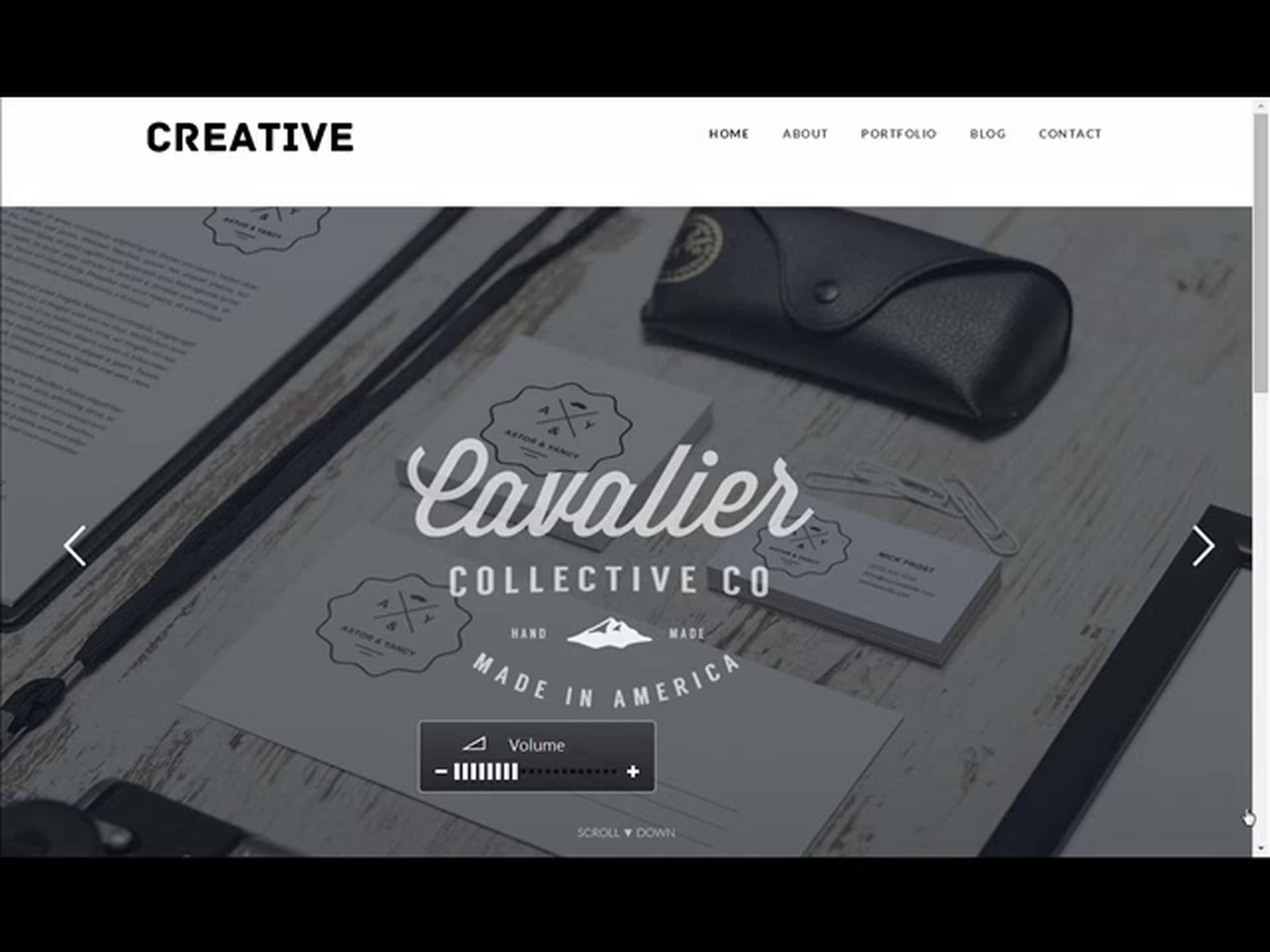 Creative Portfolio Responsive WordPress Theme – Free