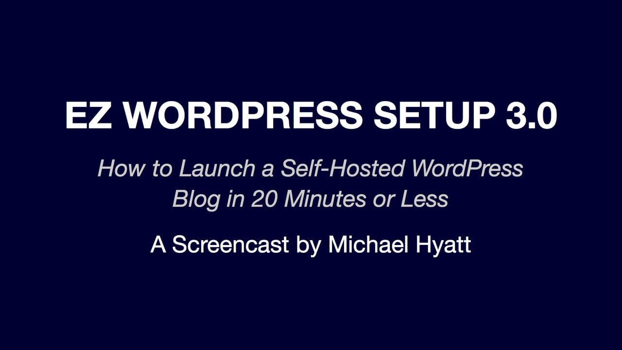 EZ WordPress Setup 3.0
