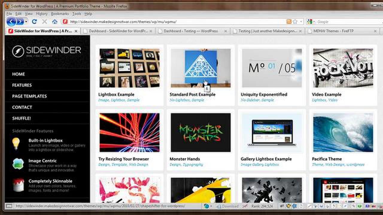 SideWinder for WordPress – Documentation Video