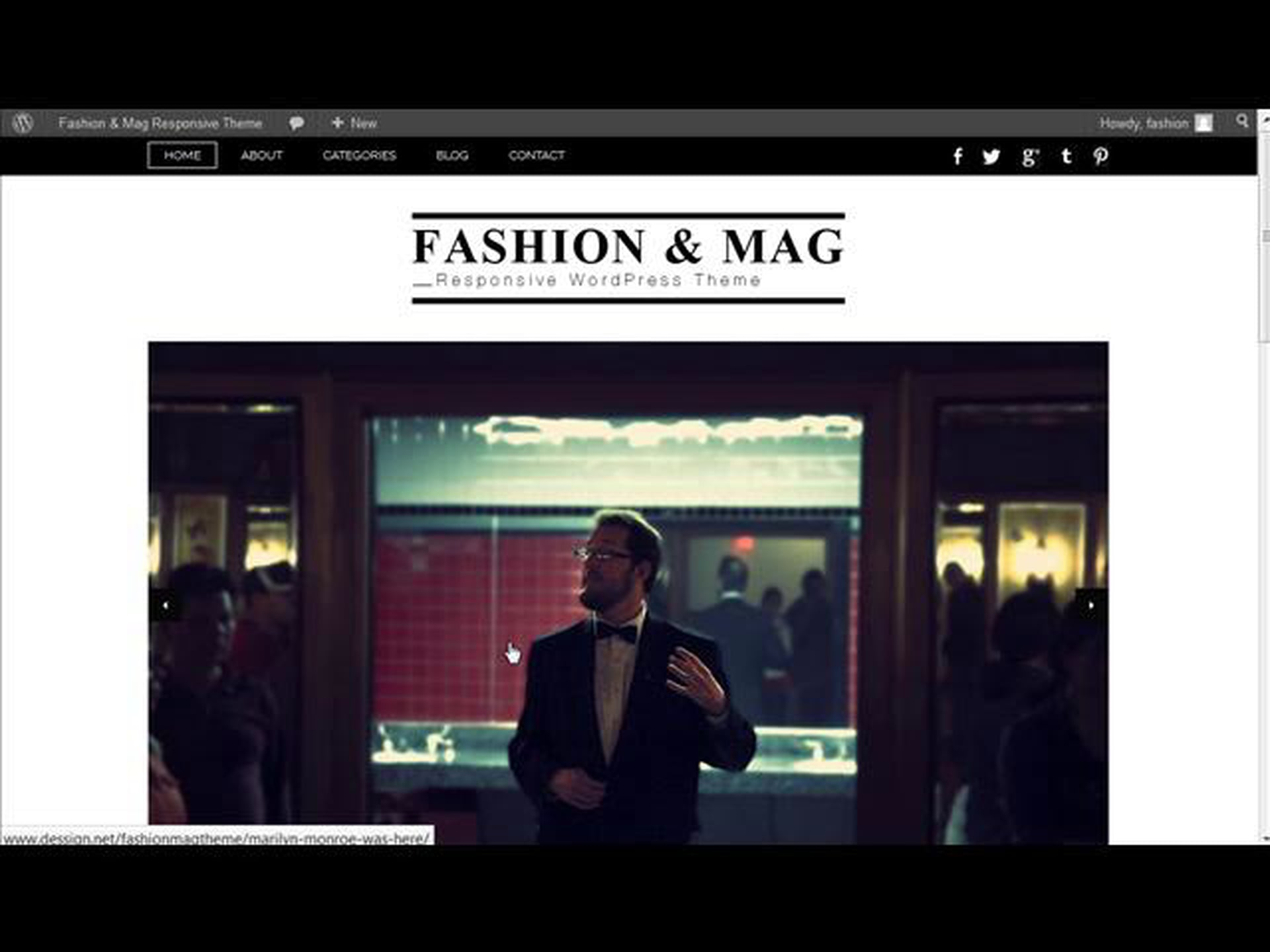 Fashion Magazine WordPress Theme