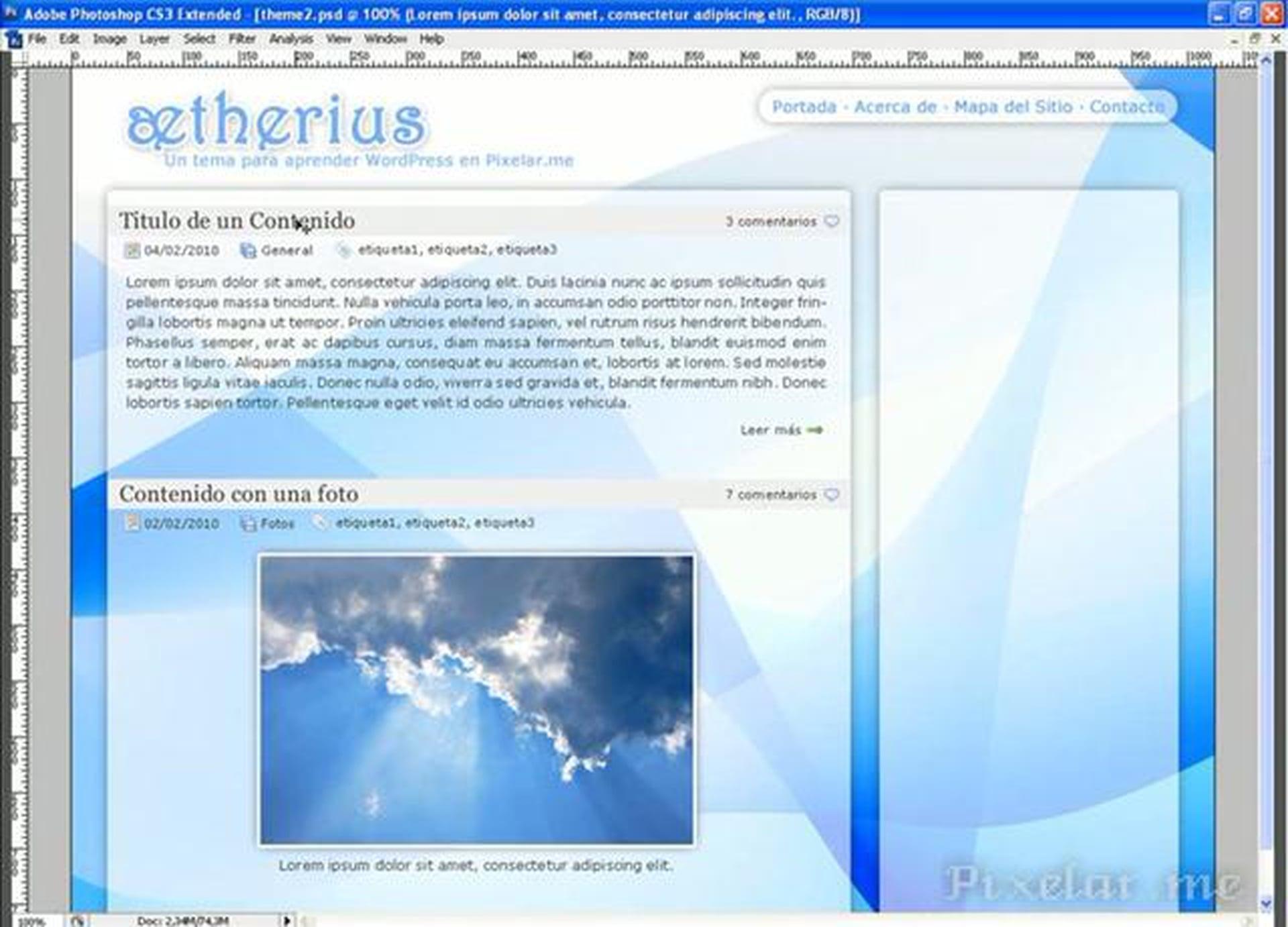 Diseño de un theme de WordPress