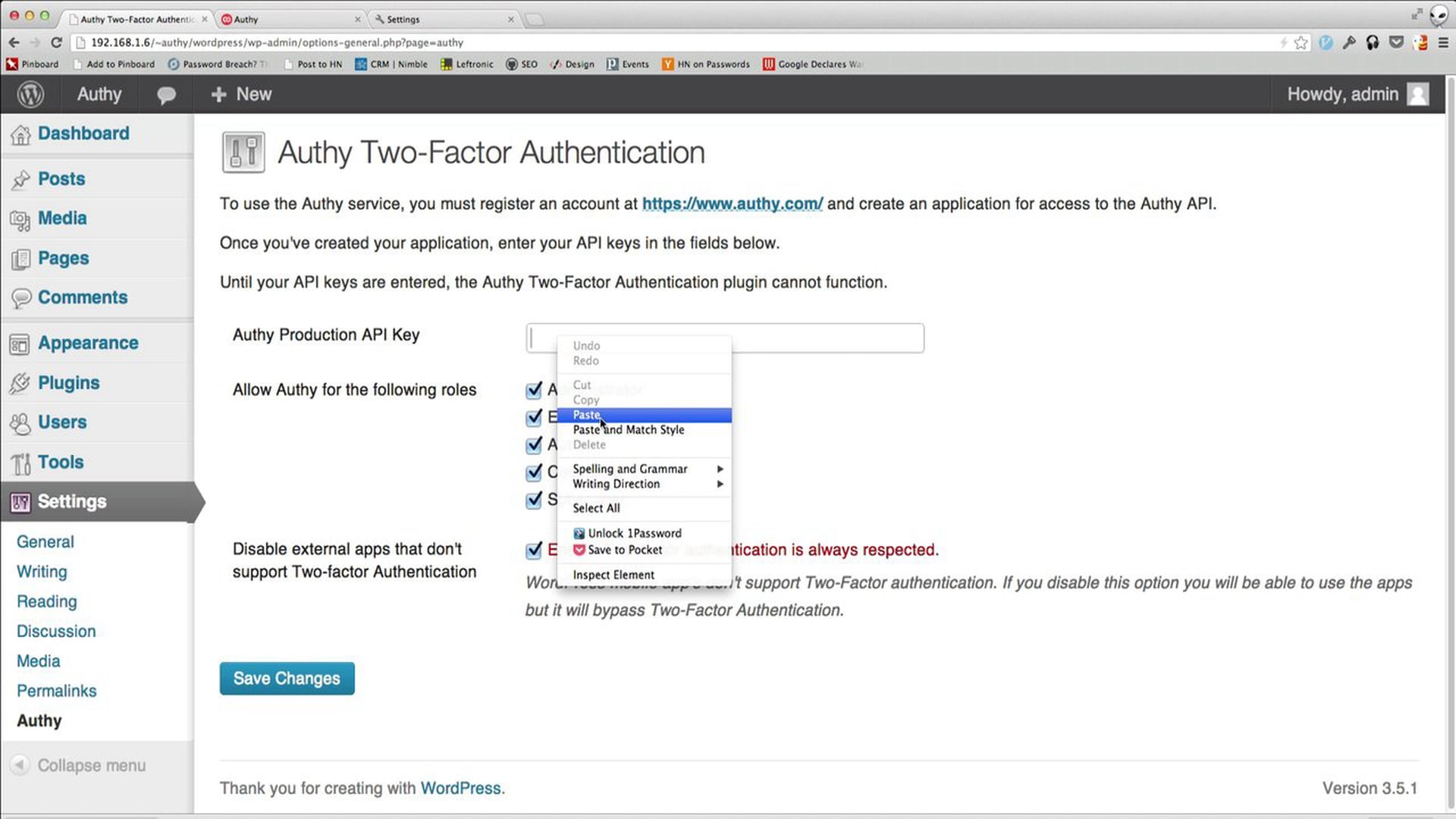 Easy WordPress Two-Factor Authentication with Authy