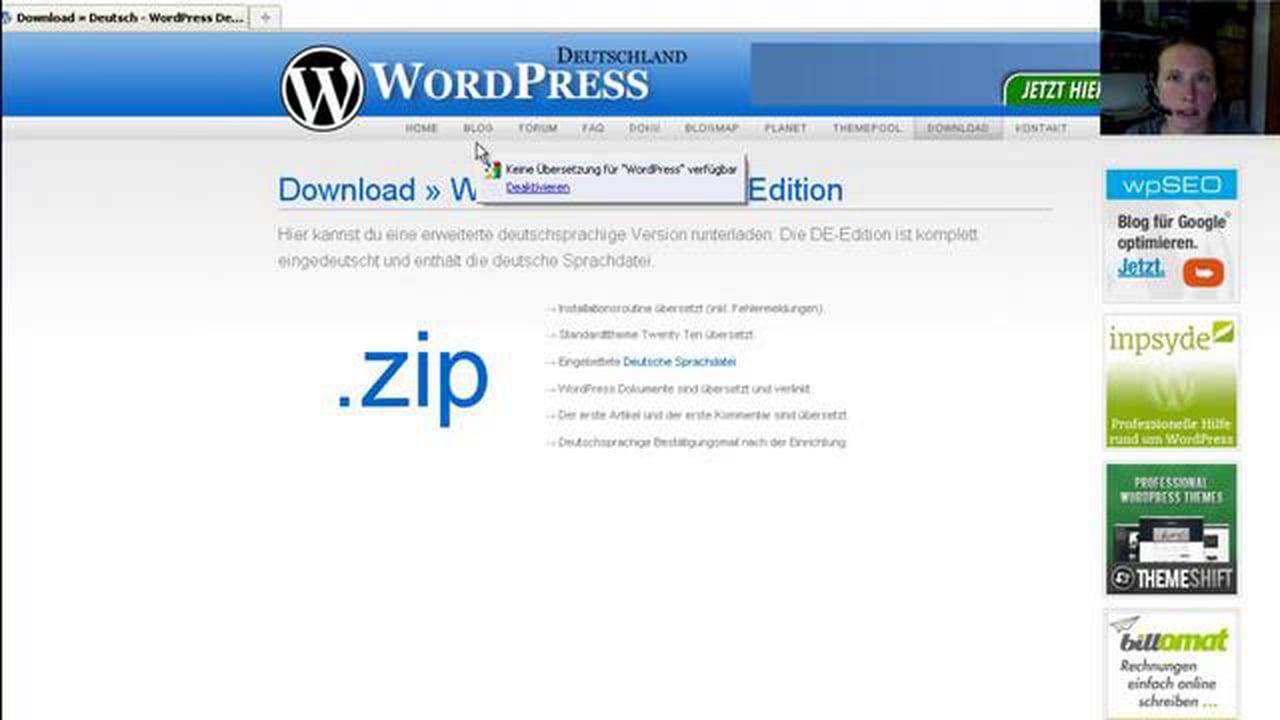 WordPress Video Tutorial – WordPress installieren