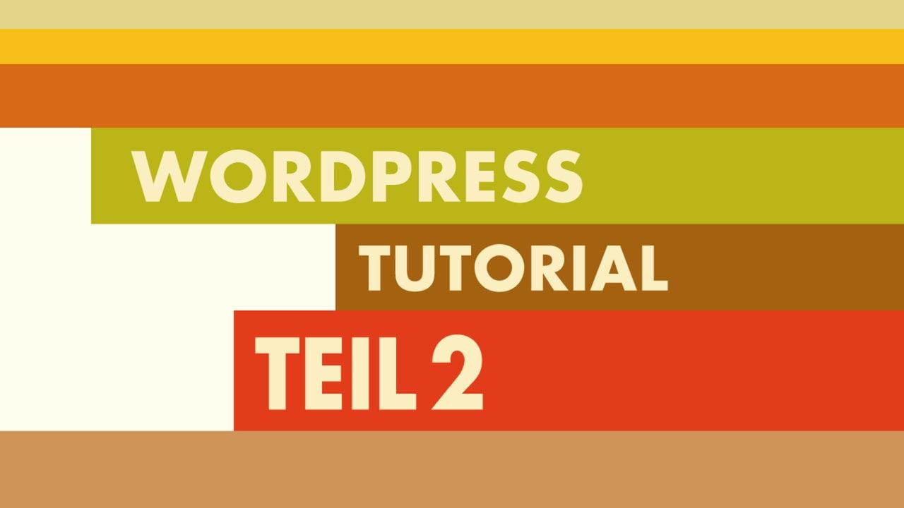 WordPress Video-Tutorial Teil2: Das Toolbox Blank-Theme
