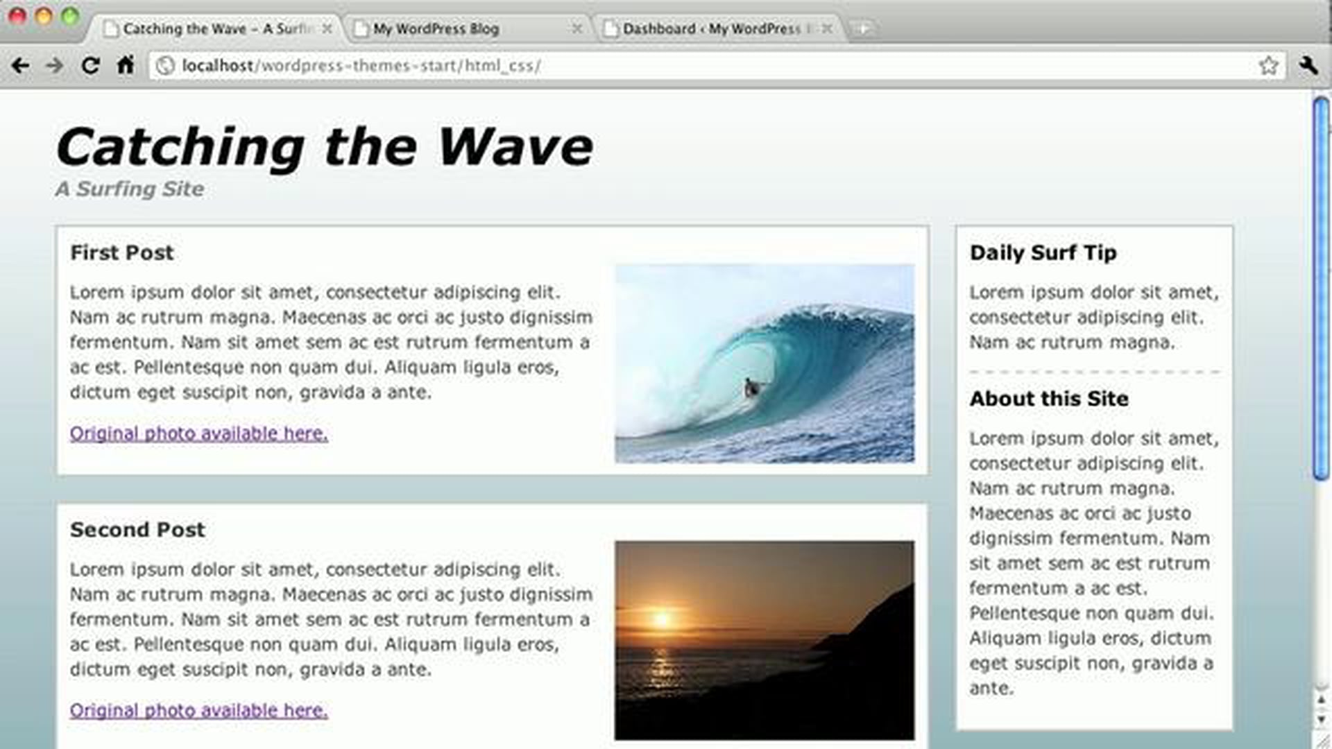 WordPress Themes: Starting a New Theme