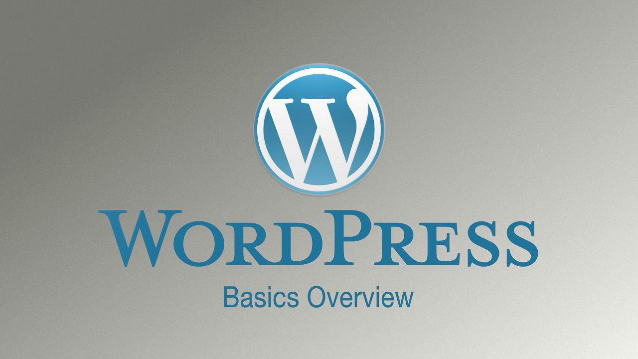 WordPress Basics Tutorial