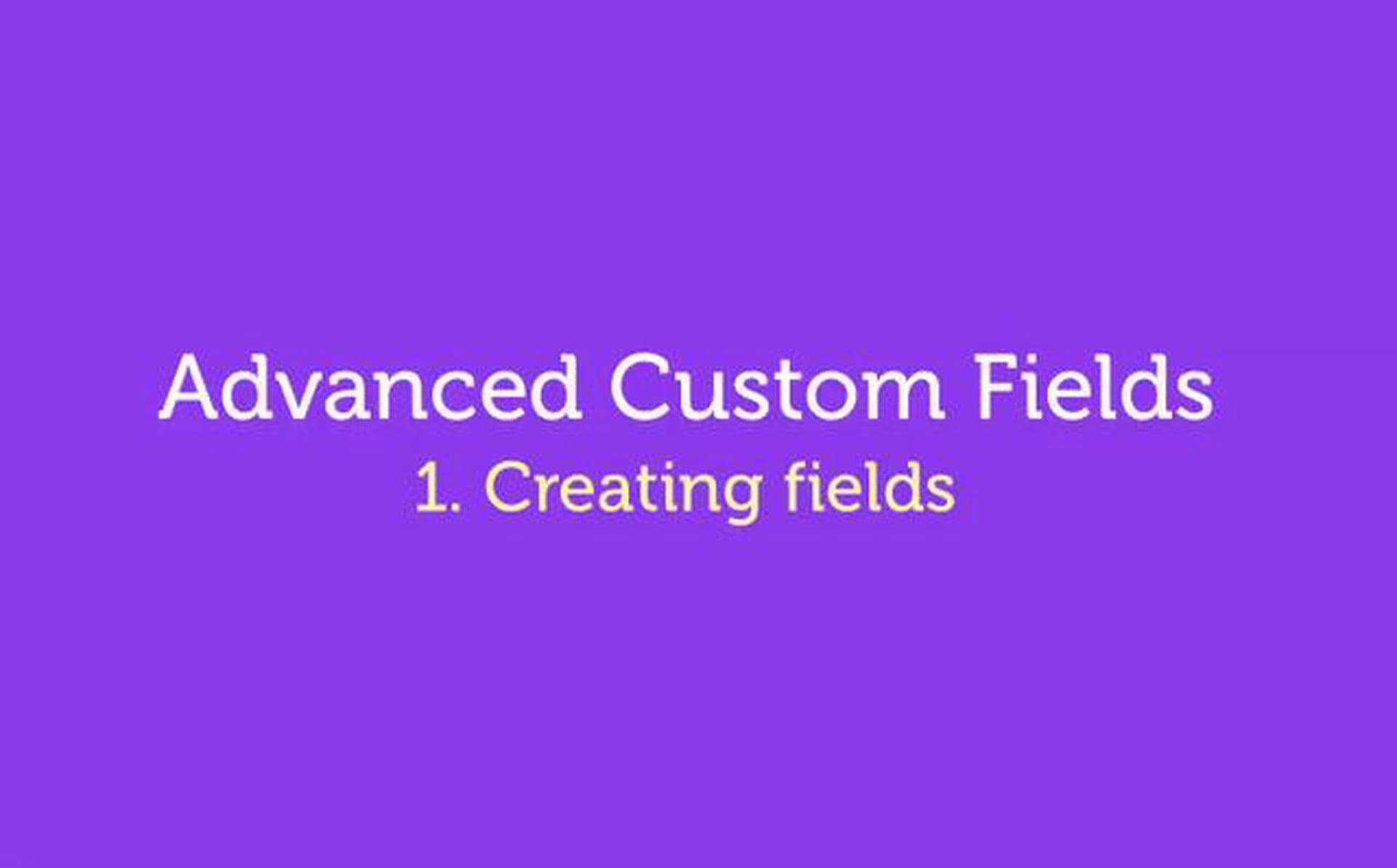 Advanced Custom Fields – WordPress Plugin – 1. Create Fields