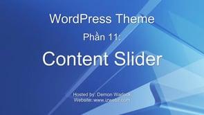 WordPress Theme – Image Slider