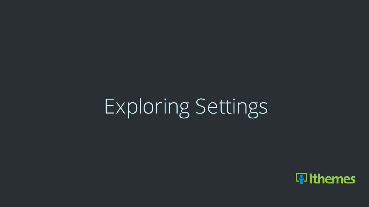 Exploring WordPress Settings