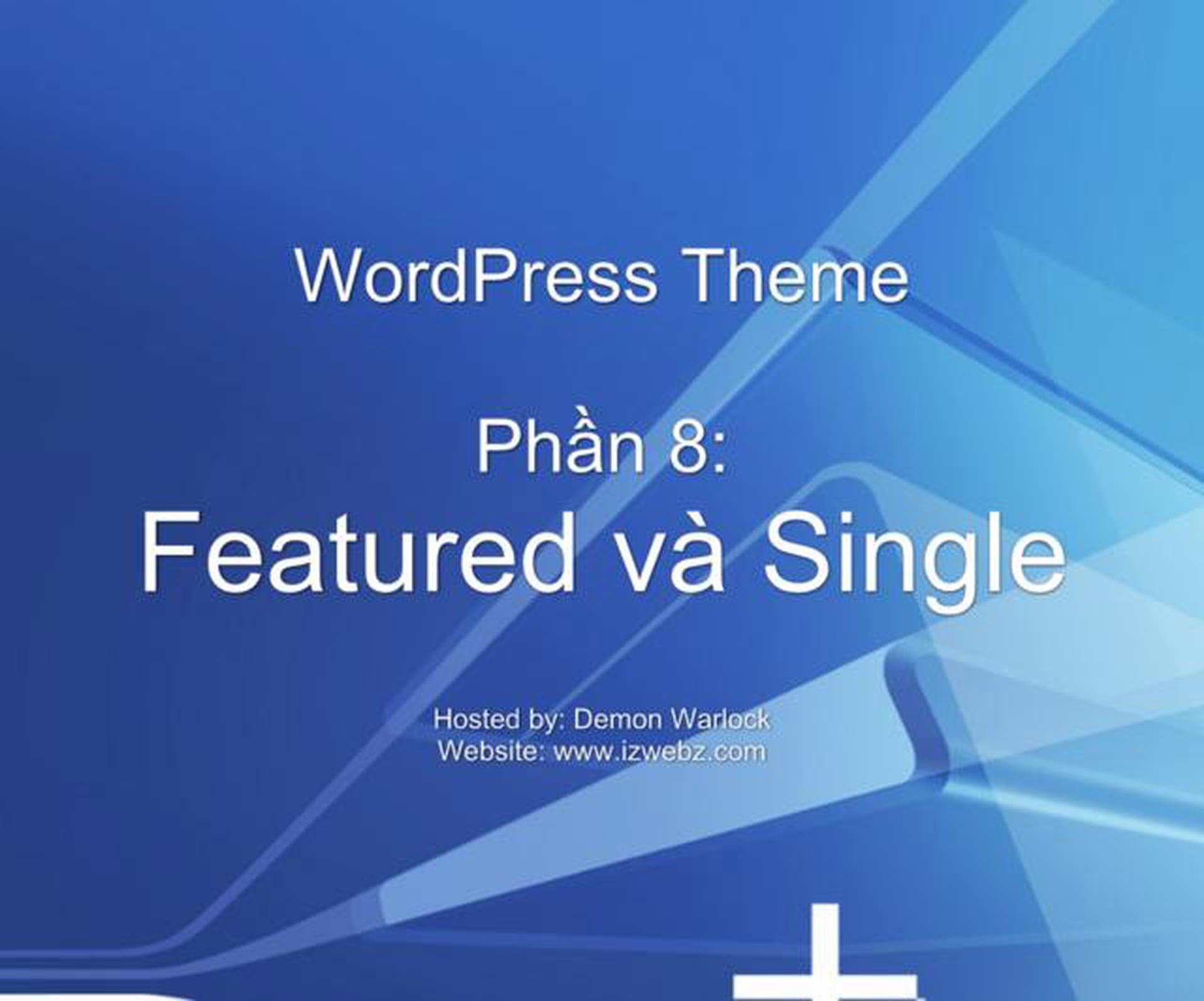 WordPress Theme – Single Page
