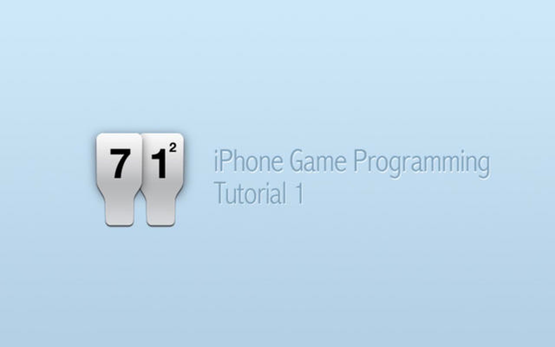 iPhone Game Programming – Tutorial 1