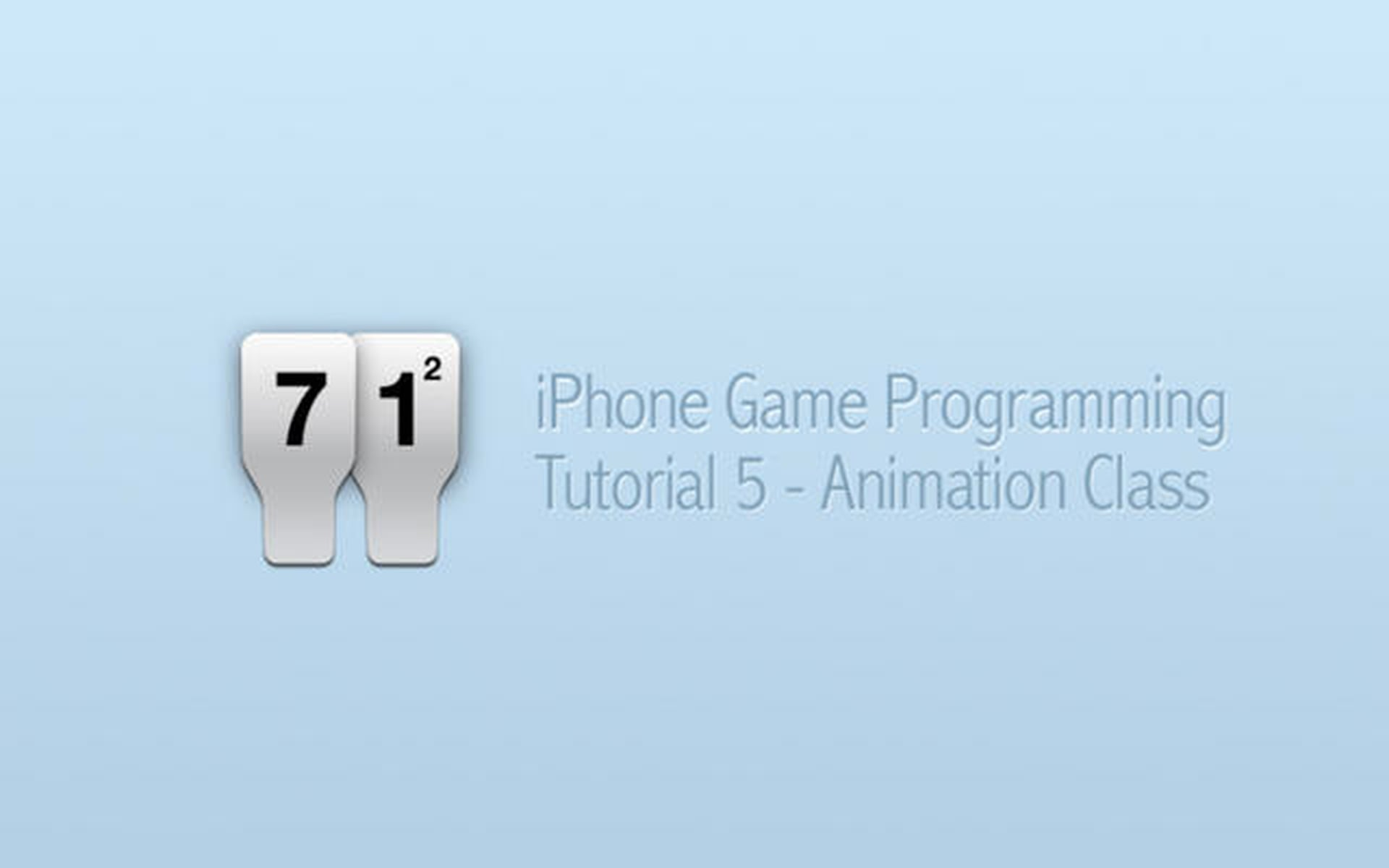 iPhone Game Programming – Tutorial 5 – Animation Class