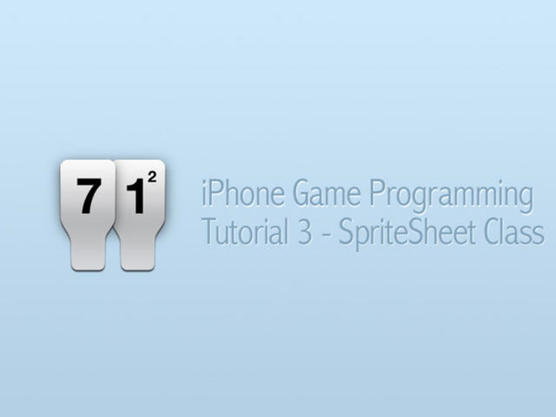 iPhone Game Programming – Tutorial 3 – SpriteSheet Class
