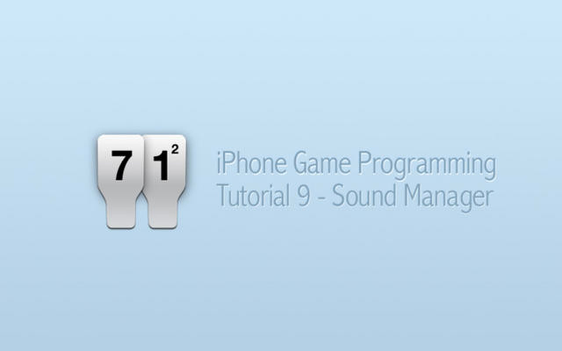 iPhone Game Programming – Tutorial 9 – Sound Manager