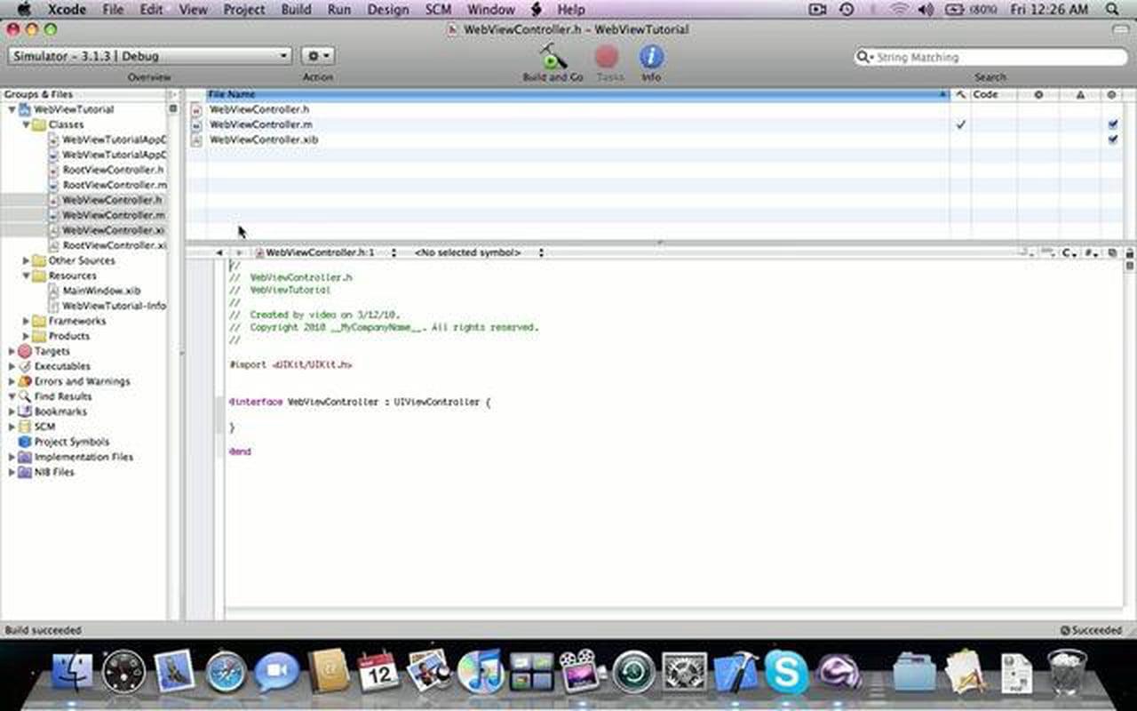 iPhone programming tutorial: UIWebView