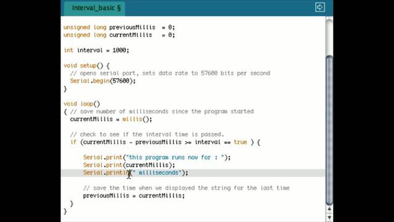 Arduino Programming – Interval tutorial