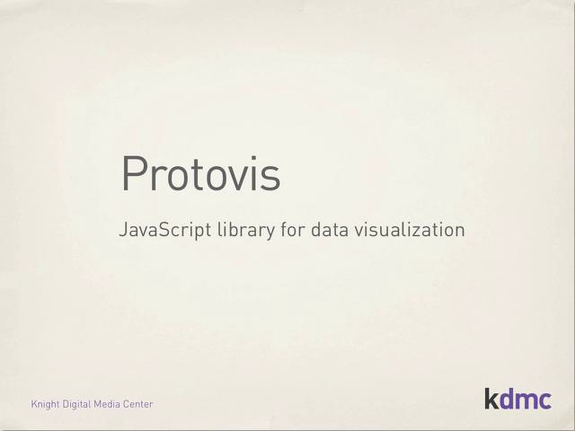 Protovis JavaScript Library Tutorial – Part 1