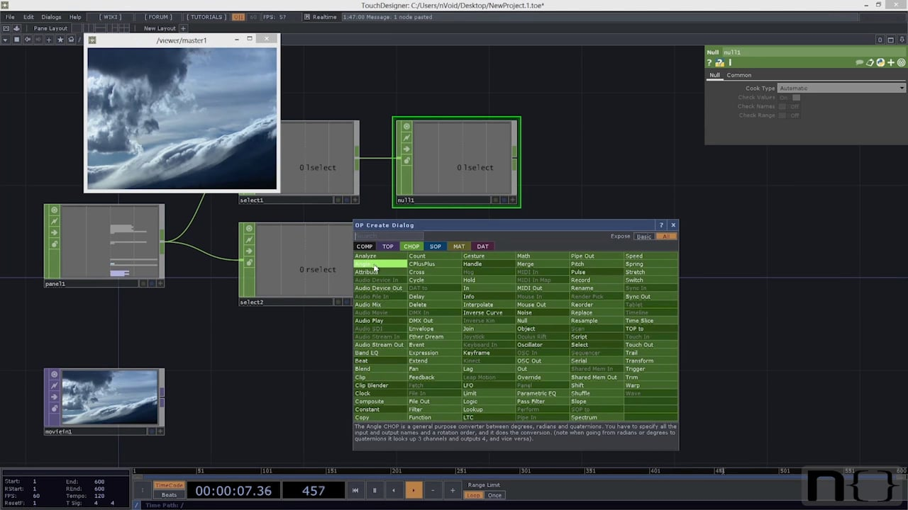 """Picture Viewer tutorial from """"An Introduction to TouchDesigner"""""""
