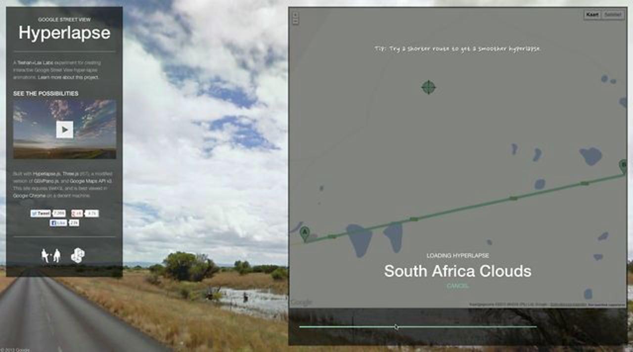 Google Streetview Hyperlapse tutorial