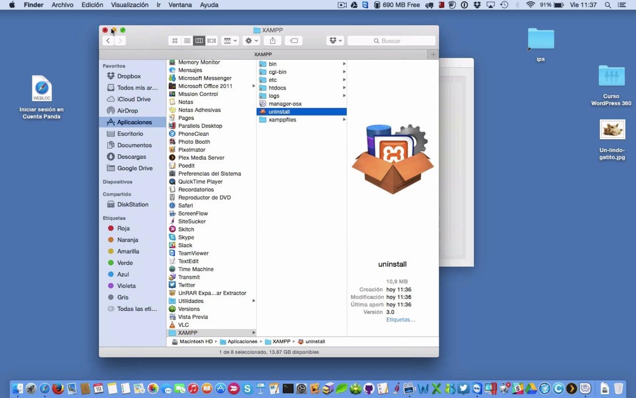 Instalar XAMPP en Mac y configurarlo para WordPress