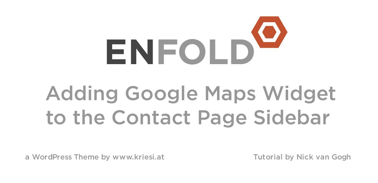 Enfold Theme Tutorial: How to add the Google Map widget to a sidebar