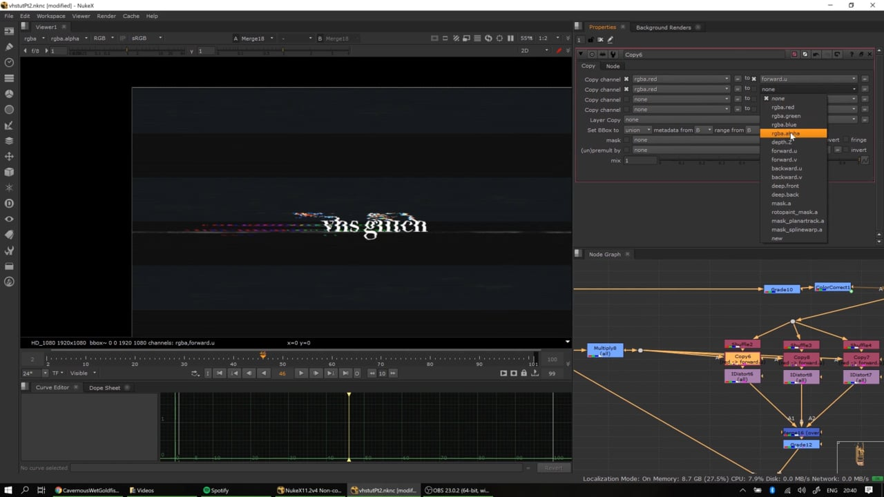 VHS Glitch Tutorial Pt. 2: Chroma Split, Wave Expressions, Procedural Value Manipulation