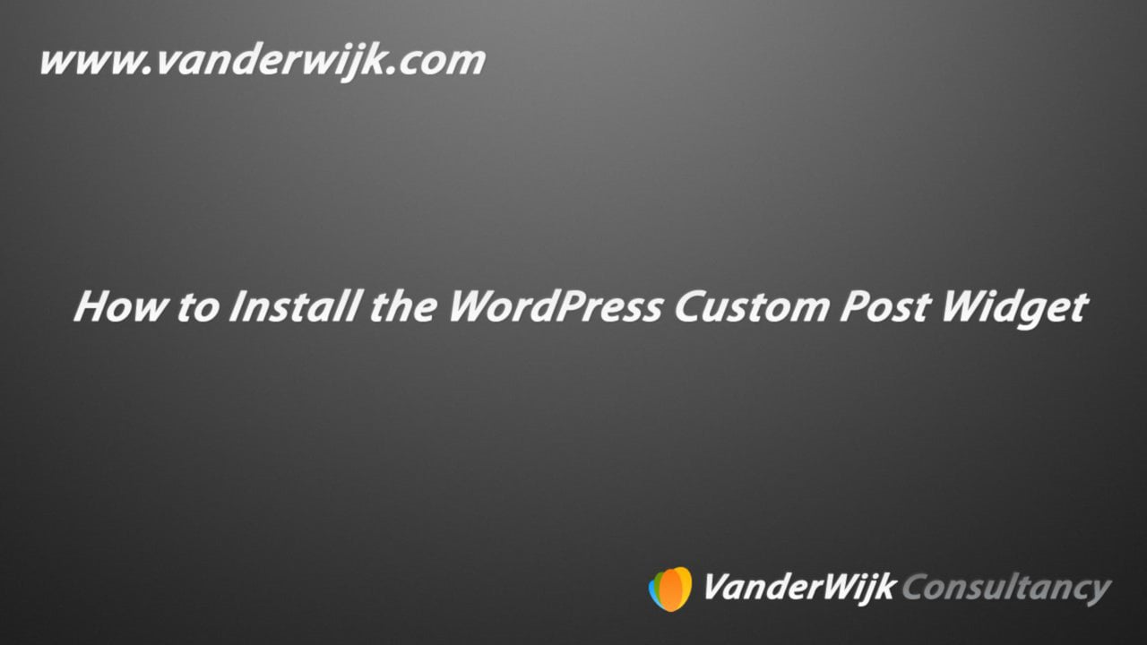 WordPress Custom Post Widget Plugin