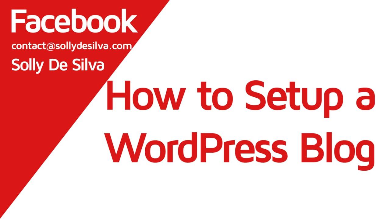 How to setup a Free WordPress Blog