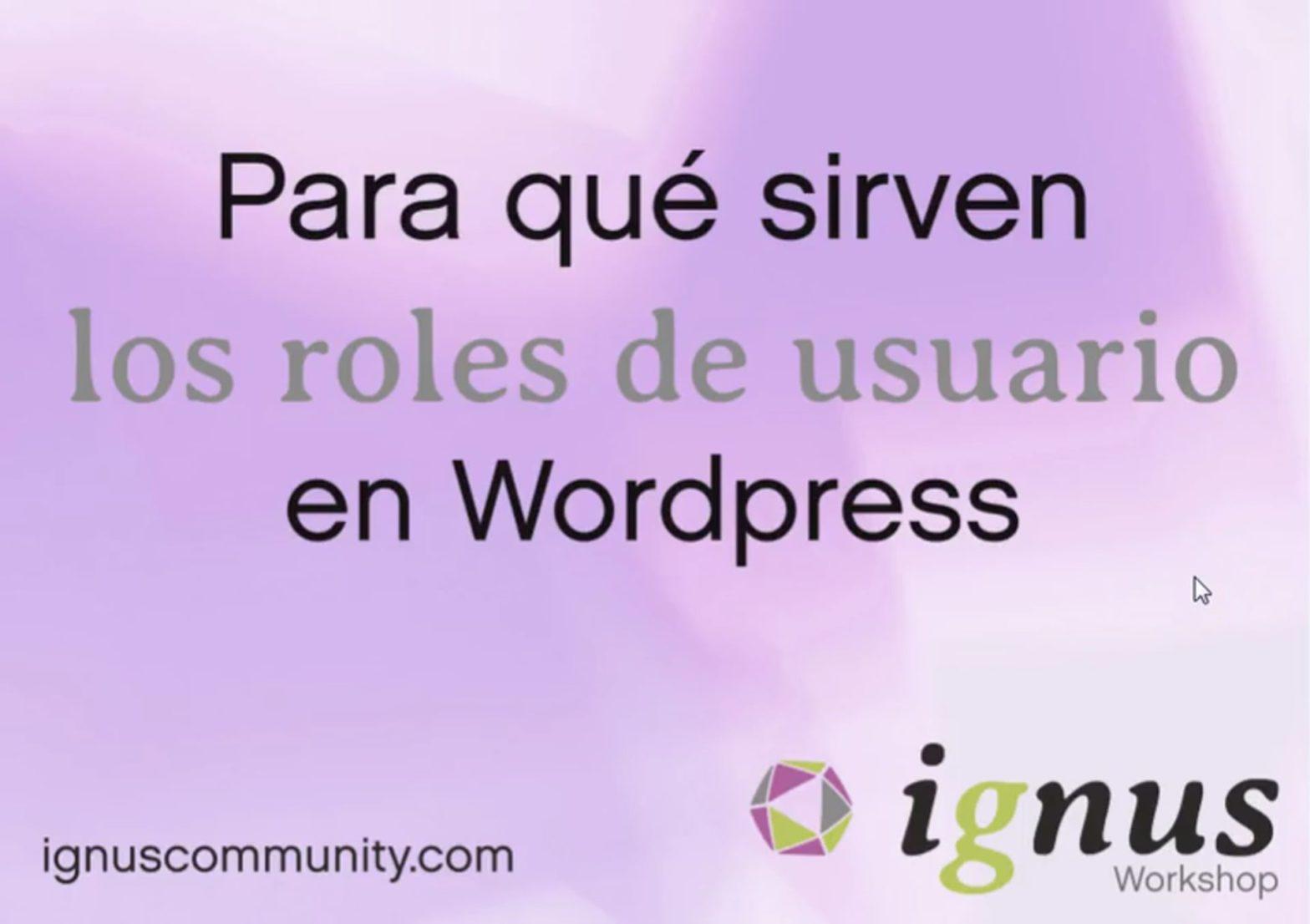 Roles de usuario en WordPress