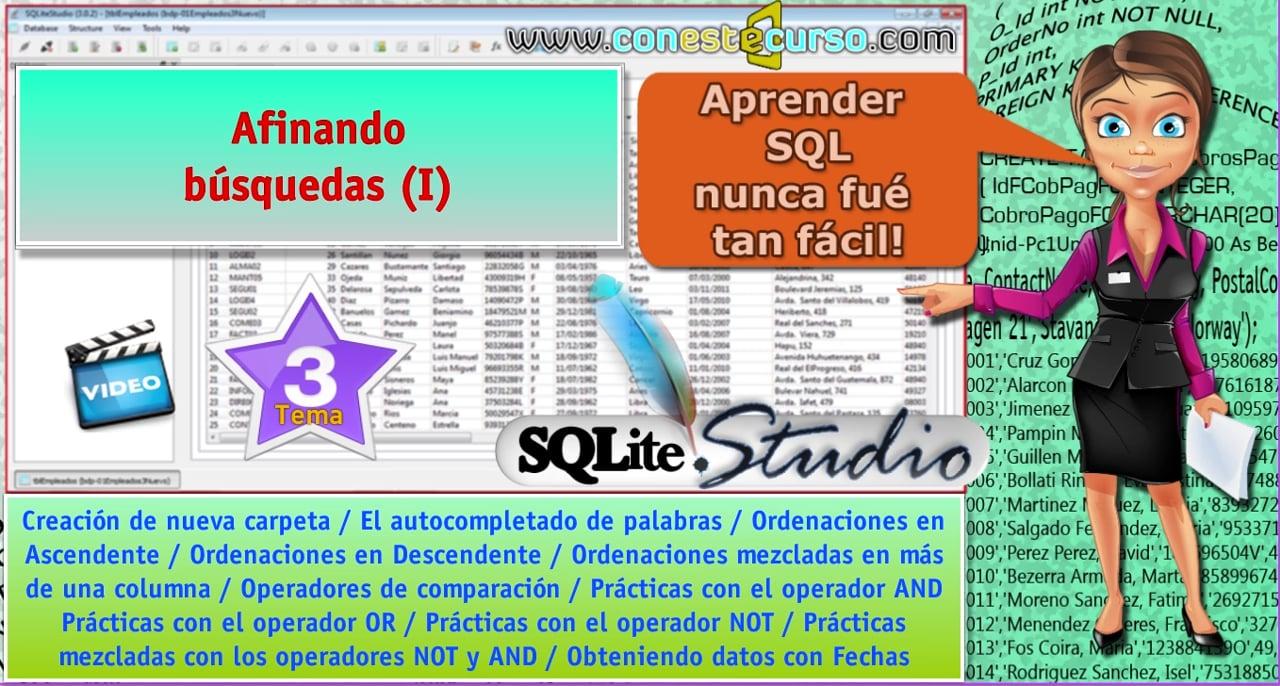 Tutorial SQLite Studio – Tema03: Afinando búsquedas (I)