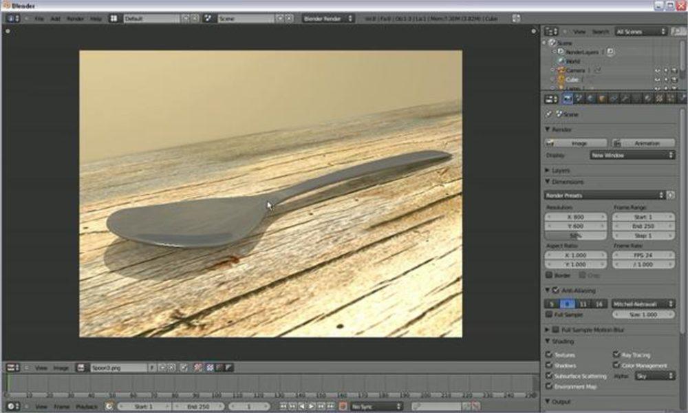 Modeling a Spoon in Blender 2.5