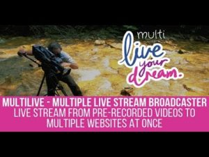 How to use the Multilive plugin to stream to Facebook live from prerecorded YouTube videos