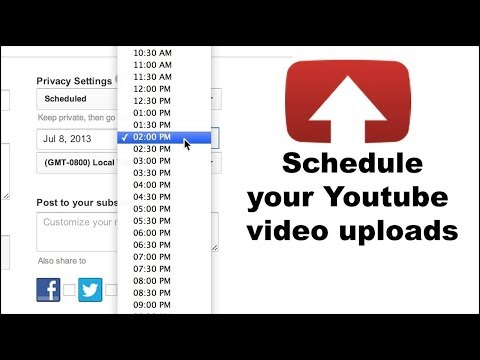 How to schedule video on YouTube?