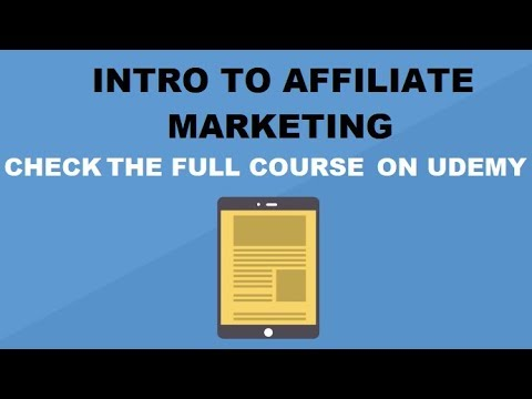 """Intro to affiliate marketing and affiliate pro- """"The Great Affiliate Program List Course"""" preview"""
