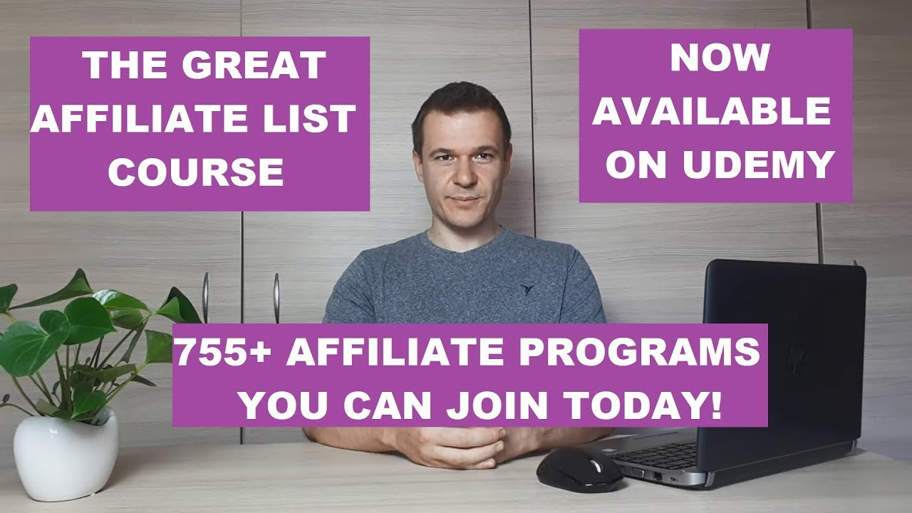 "Intro to affiliate marketing and affiliate pro- ""The Great Affiliate Program List Course"" preview"