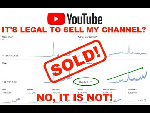 Is Selling my YouTube Channel Legal?