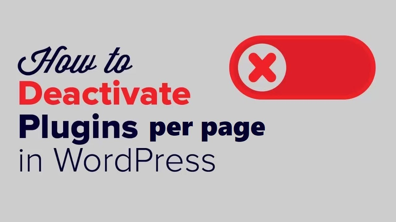 PerfBoost plugin update: activate or deactivate plugins per page