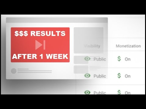 Results from the First Week of Monetizing my YouTube Channel