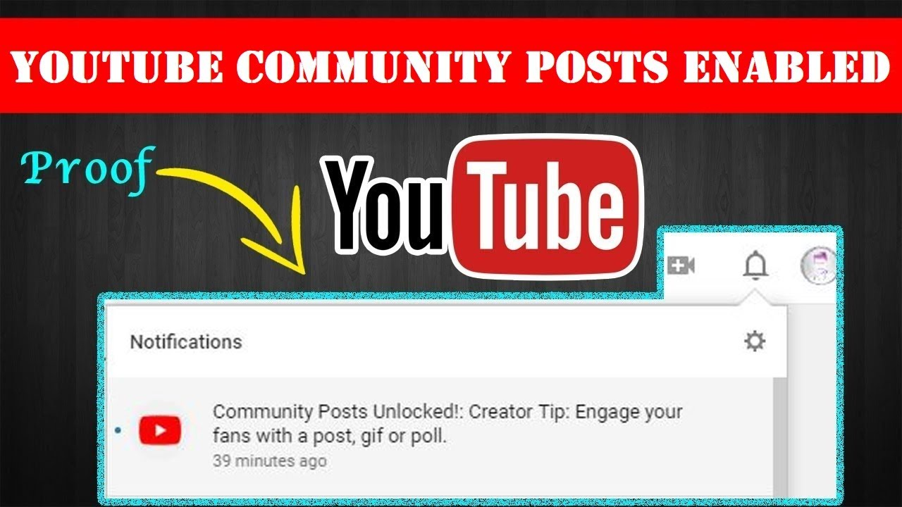 YouTube Community Posts Enabled for my Channel!