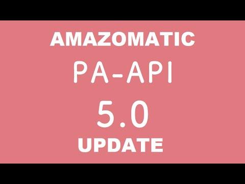 Amazomatic v2.0 update – migration from the Amazon PA API v4 to PA API v5 – update before Mar 9 2020