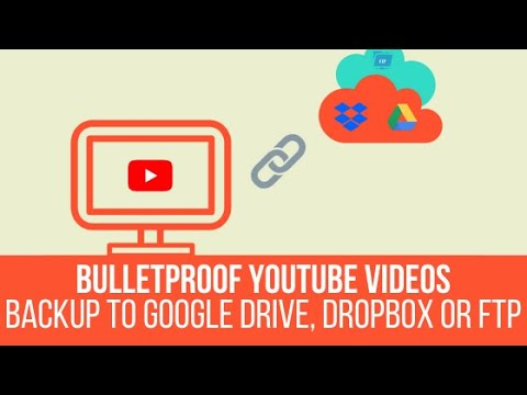 Bulletproof YouTube Videos – Backup to Google Drive, Dropbox or FTP