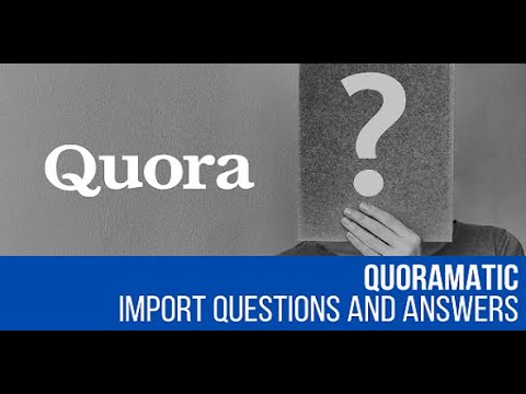 Quoramatic – Questions and Answers Post Generator Plugin for WordPress