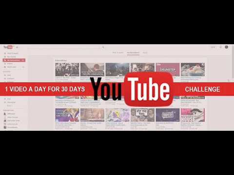 """The 30-Day """"Epic"""" YouTube Video Challenge"""