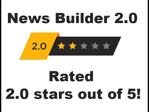 News Builder 2.0 is actually rated 2 out of 5 stars by it's real customers!
