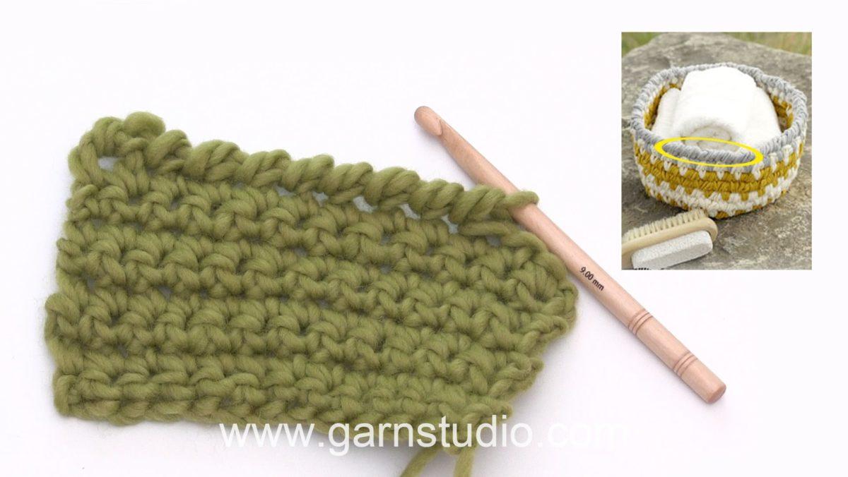 How to crochet backwards (reverse crochet)