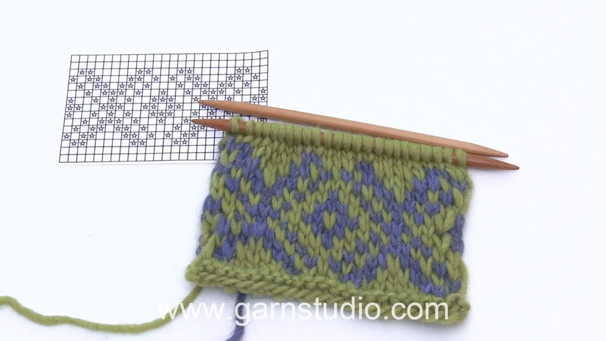 How to knit Fair Isle (2 color knitting) continental