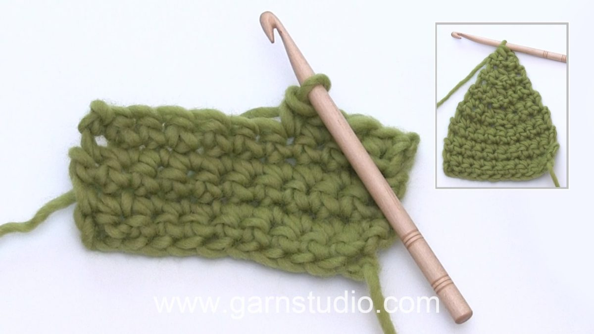 How to decrease in double crochet (dc) stitches