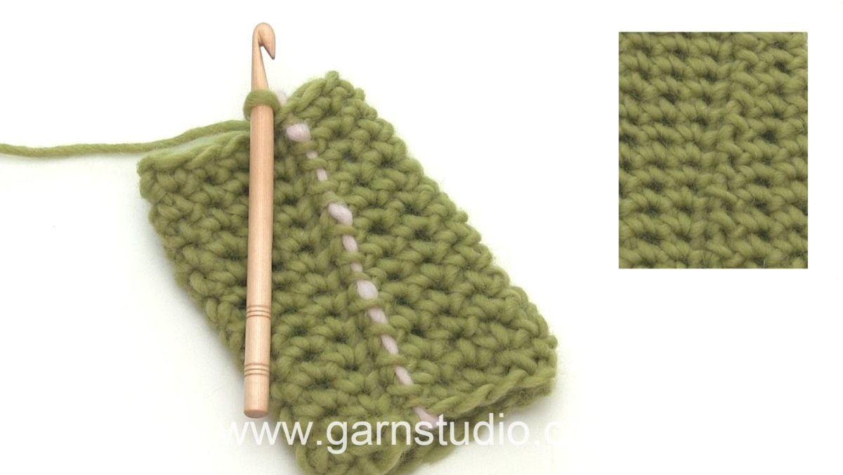 How to crochet a single crochet (sc) US / double crochet (dc) UK in the round